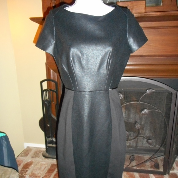 Tahari Dresses & Skirts - NWT HOT Black Leather look Tahari dress, 4